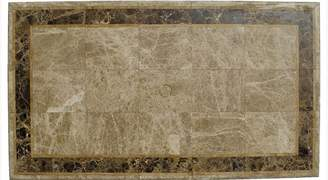 Channel Enterprises Saturn Travertine And Marble Table Rectangular