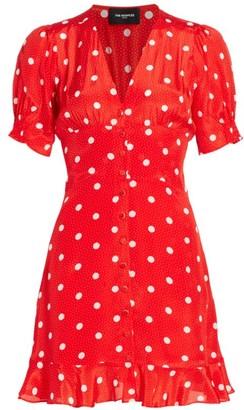 The Kooples Polka Dot Button-Front Mini Dress