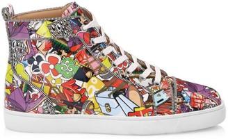 Christian Louboutin Louis Orlato Printed High-Top Sneakers