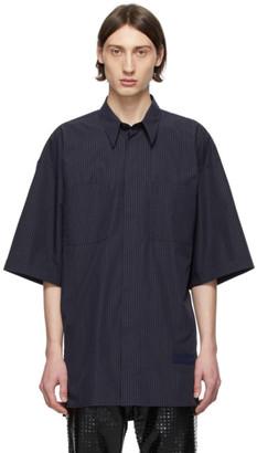 Givenchy Navy Striped Oversize Patch Shirt