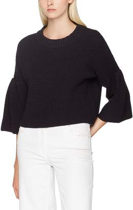 French Connection Women's Ellie Wffle KNT 3/4 SLV CRW Nk Jumper