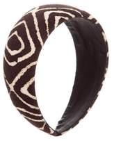 Oscar de la Renta Printed Woven Headband