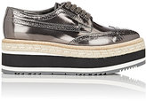 Prada Women's Leather Platform Espadrille Wingtip Oxfords