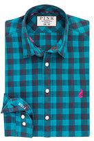 Thomas Pink Waterhouse Check Slim Fit Button Cuff Shirt