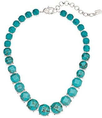 Lauren Ralph Lauren 16 Stone Collar Necklace (Turquoise) Necklace