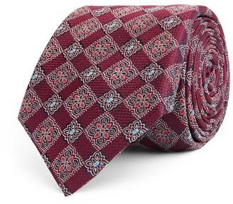 Canali Silk Floral Print Tie