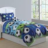 Bed Bath & Beyond Soccer League 4-Piece Full Comforter Set in Blue