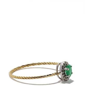 Wouters & Hendrix Gold 18kt Diamond And Emerald Ring