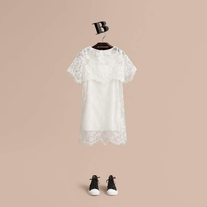 Burberry Layered Lace Shift Dress
