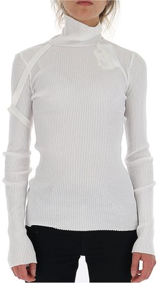 Helmut Lang Turtleneck Ribbed Sweater
