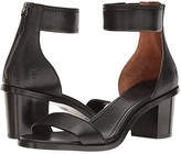 Frye Brielle Back Zip (Black Soft Full Grain) Women's Dress Sandals