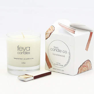 Asstd National Brand Feya Candle 6.5oz Sandalwood Soy Candle