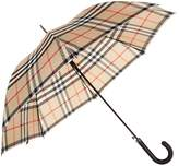 Burberry Heritage Check Walking Umbrella, Brown