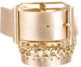 Michael Kors Metallic Leather Waist Belt