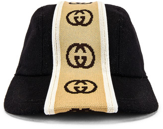 Gucci Baseball Cap in Black & Beige | FWRD