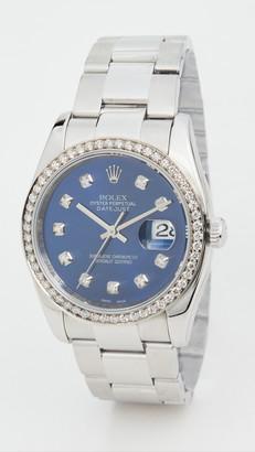 Rolex Pre-Owned 36mm Gents SS Rolex Blue Diamond