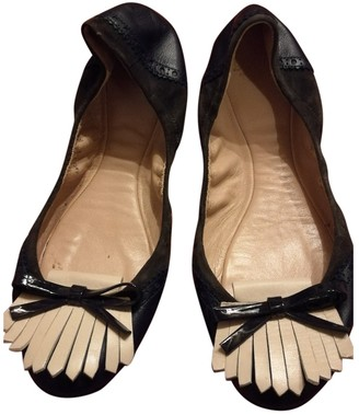 Bally Blue Leather Ballet flats