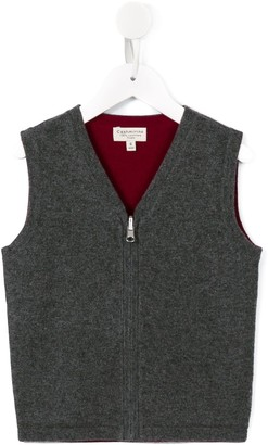 Cashmirino V-neck knitted gilet