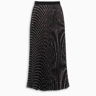 Miu Miu Black Flower skirt