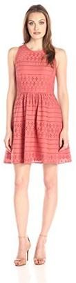 Lark & Ro Amazon Brand Women's Sleeveless Eyelet Fit and Flare Dress