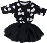 Huxbaby Girls Black Ballet Onesie (3 - 12M)