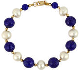 Effy White Pearl, Lapis and 14K Yellow Gold Bracelet