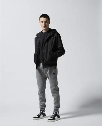 The Kooples Skinny heather grey joggers w/leather badge