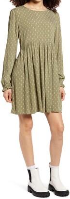 BP Print Long Sleeve Dress