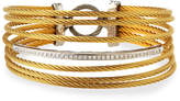 Alor Seven-Row Split Diamond Cable Bangle
