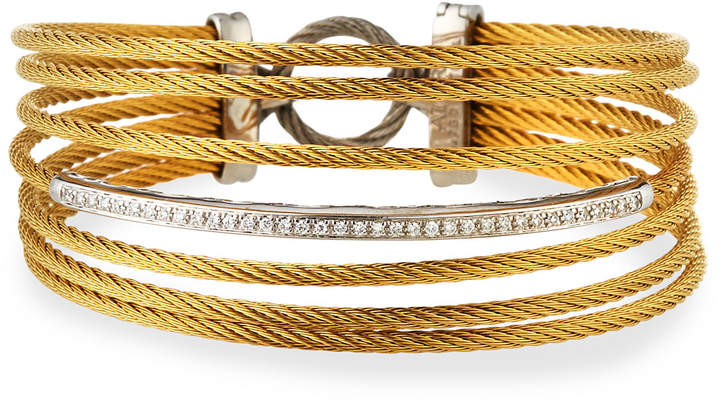 Alor Seven-Row Split Diamond Cable Bangle