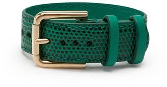 Dolce & Gabbana Snakeskin Effect Buckled Bracelet