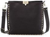 Valentino Rockstud Small Flip-Lock Messenger Bag, Black