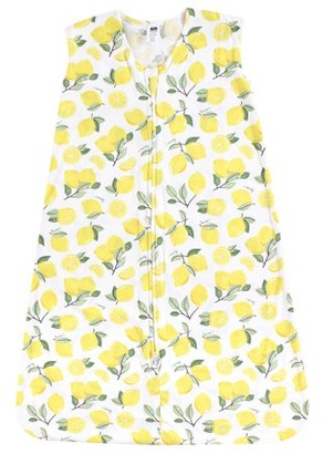 Hudson Baby Boy and Girl Jersey Cotton Sleeping Bag, Lemons, 12-18 Months