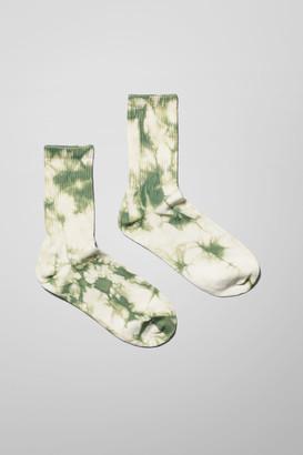 Weekday Eleven Tie Dye Socks - Green