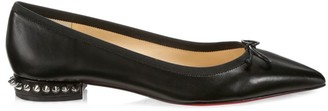 Christian Louboutin Hall Spiked Leather Flats