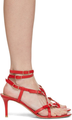 Gianvito Rossi Red Strappy Sandals