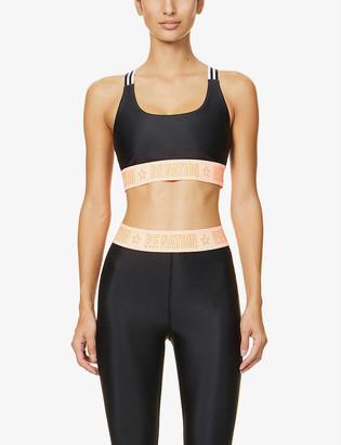 P.E Nation Front Side stretch-jersey sports bra