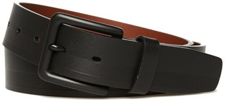 Original Penguin Black Stripe Leather Belt