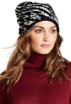 Natasha Accessories Metallic Animal Knit Beanie