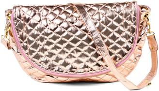 Amrita Singh Women's Handbags Metallic - Metallic Champagne Siveda Crossbody Bag