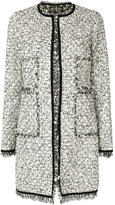 Giambattista Valli lace trim tweed coat