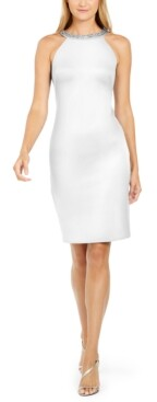 Thumbnail for your product : Calvin Klein Embellished Sheath Dress