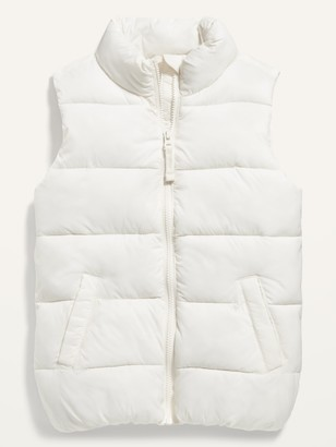 Old Navy Frost-Free Solid Puffer Vest for Girls