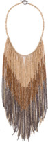 Brunello Cucinelli Fringe Bib Monili Necklace
