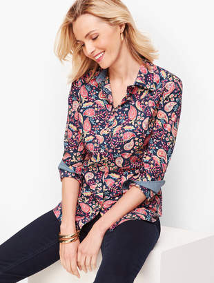 Talbots Classic Cotton Shirt - Dazzling Paisley
