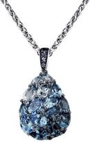 Effy Jewelry Effy 925 Sterling Silver Blue Topaz Pendant, 6.35 TCW
