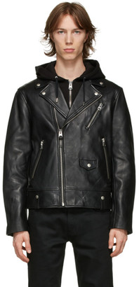 Mackage Black Leather Mangus Jacket