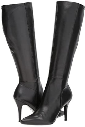Nine West Fallon Tall Dress Boot (Black/Black Leather) Women's Boots