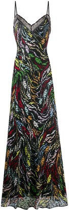 Missoni Abstract-Print Knitted Maxi Dress