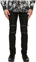 Just Cavalli Skin Effect and Spot Moto Denim Men's Jeans